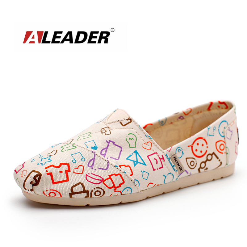 6f3cfb6f3d90 ALEADER Fashion Womens Canvas Shoes Tom Design Graffito Painting Shoes Slip  On Casual Women Flats Student