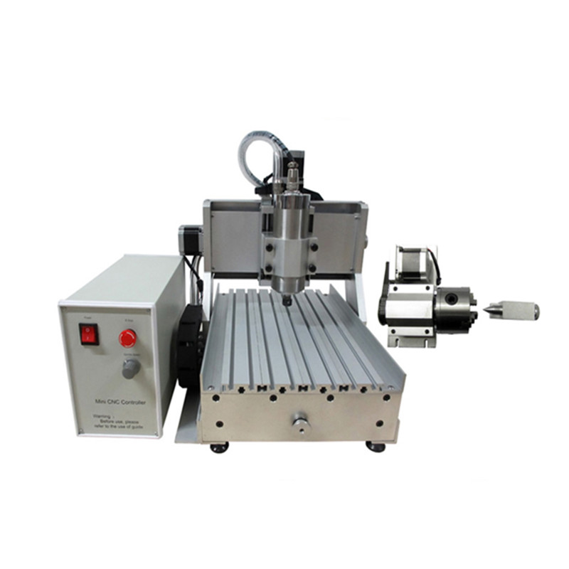 3 axis 4axis Mini CNC Milling Machine Ball Screw 800W Spindle CNC Router Engraver with Limit Switch for Metal Woodworking russia tax free cnc woodworking carving machine 4 axis cnc router 3040 z s with limit switch 1500w spindle for aluminum
