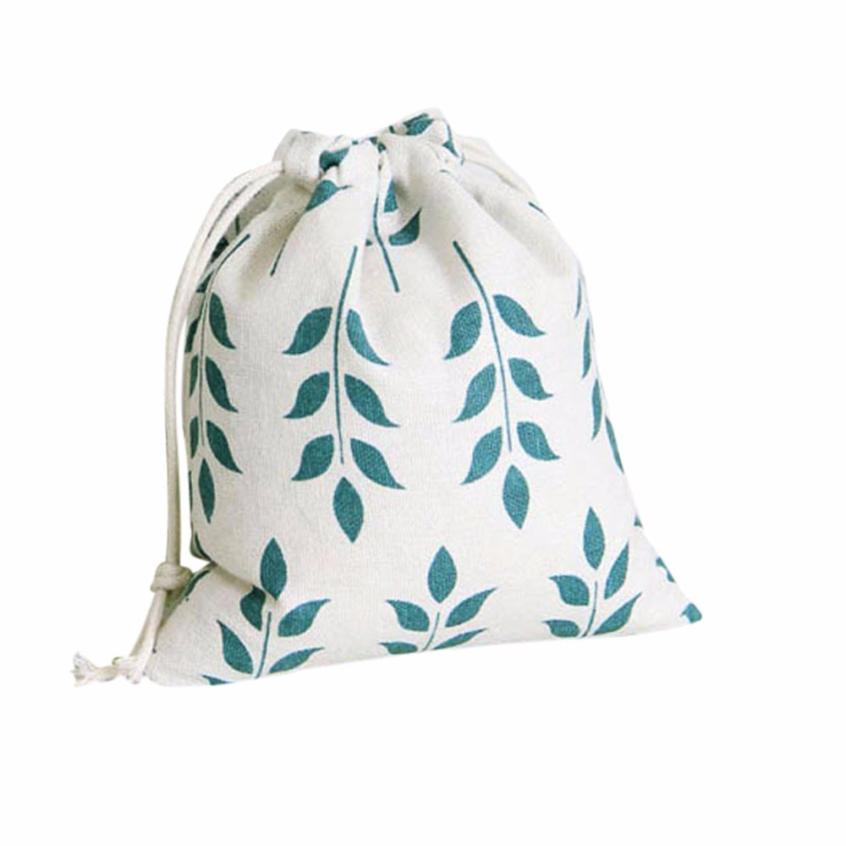 Sleeper #4000 Wheat Printing Drawstring Beam Port Travel Bag Gift Bag Empate Bolso 3 Size