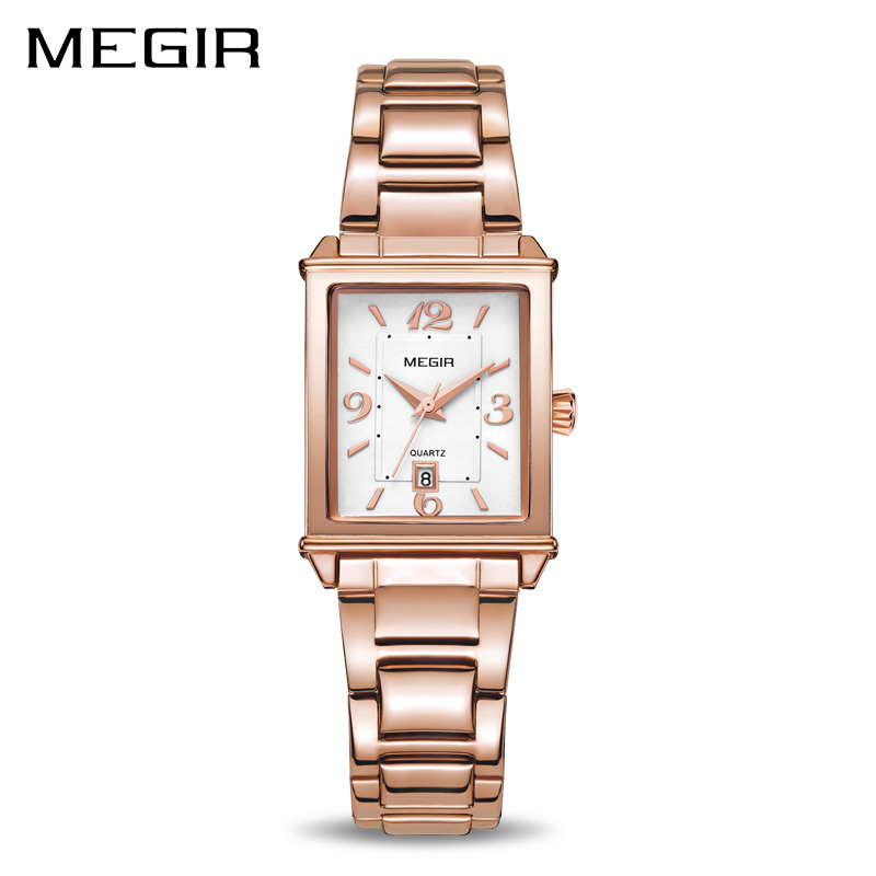 MEGIR Ladies Watches Rose Gold Luxury Women Bracelet Watch for Lovers Fashion Girl Quartz Wristwatch Clock Relogio Feminino 1079 kimio rose gold watches women fashion watch 2017 luxury brand quartz wristwatch ladies bracelet women s watches for women clock