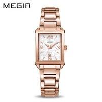 MEGIR Ladies Watches Rose Gold Luxury Women Bracelet Watch For Lovers Fashion Girl Quartz Wristwatch Clock