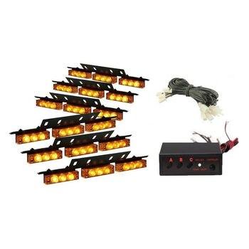 Luces De Emergencia Del Tablero | BBQ @ FUKA 54 LED De Luz Estroboscópica De Emergencia De Flash ámbar Para Coche