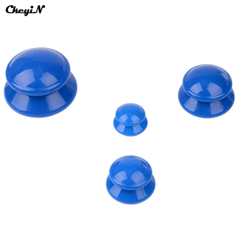 CkeyiN Hot 4Pcs/Set Family Full Body Massage Massgaer Helper Sillicone Anti Cellulite Vacuum Health Care Silicone Cupping Cups