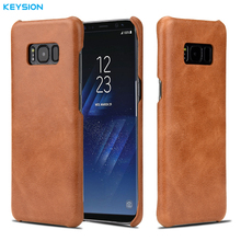 KEYSION Retro Genuine Leather Case for Samsung S8 S8Plus