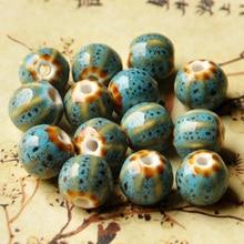 Flower Glaze Ceramic Beads Watermelon Charm Diy Porcelain Bead For Women Men  Braided Pandora Bracelet Material Vintage Jewelry