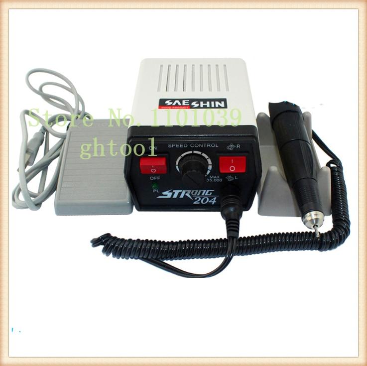 Купить с кэшбэком Dental Supplies STRONG 204 Mini Micromotor Polishing Machine for dental jewelry beauty nails jewelery tools
