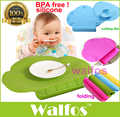 WALFOS пищевой силиконовый детский нагрудник, Настольный коврик для младенцев, маленькая столовая переносная подставка для детей, силиконова...