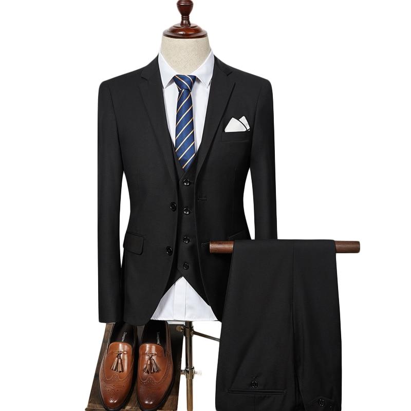 93f7b7e4bd00a4 Plyesxale Red Purple Suits For Men Business Suits Formal Slim Fit 3 Piece  Mens Wedding Suit Luxury Brand Korean Fashion Q273