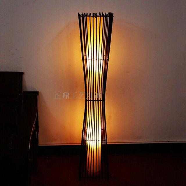 Southeast Asian Chinese Japanese Bamboo Floor Lamp Floor Lamp Bedroom Lamp  Lighting Package Box Creative Spaces