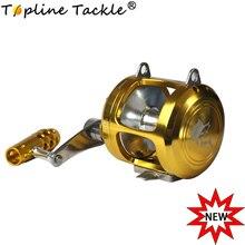Topline Tackle 30 II Speed Fishing Reels Level Wind Trolling Reel Conventional Jigging Reel for Saltwater Big Game Fishing
