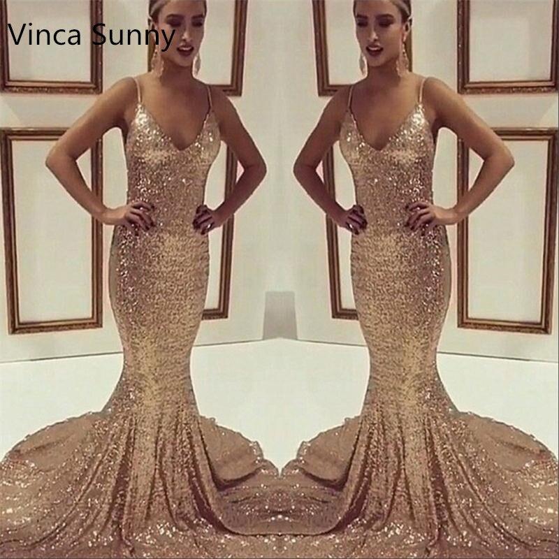 Gold Trumpet Prom Dress