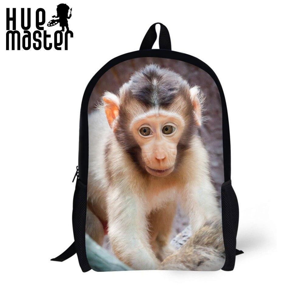 animal Monkey prints School backpack Teens Boys Girls Kawaii school bag Christmas gifts high quality with low price backpack