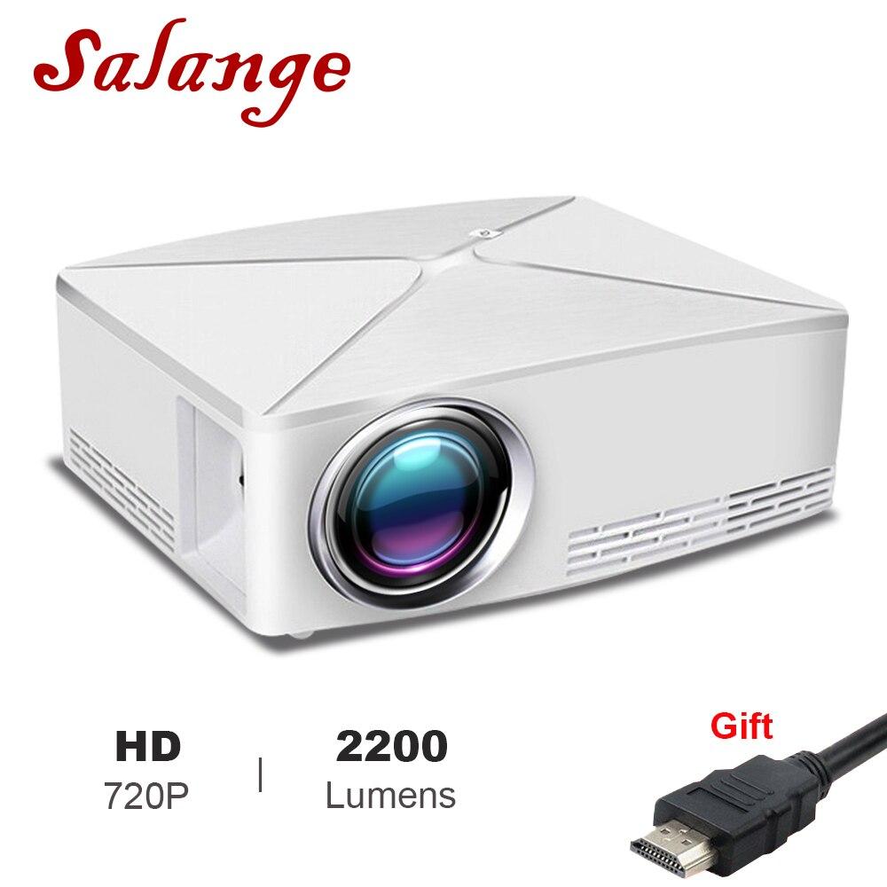 Salange MINI projecteur LED C80 UP, 1280x720, Android WIFI Proyector, 3D Portable projecteur pour Home Cinema, optionnel C80 projecteur