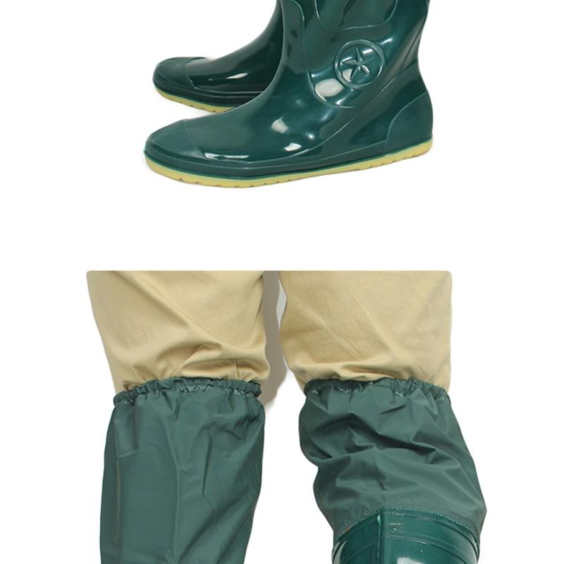 2018 yeni yeşil yumuşak taban balıkçılık botları pvc yüksek - Erkek Ayakkabıları - Fotoğraf 3