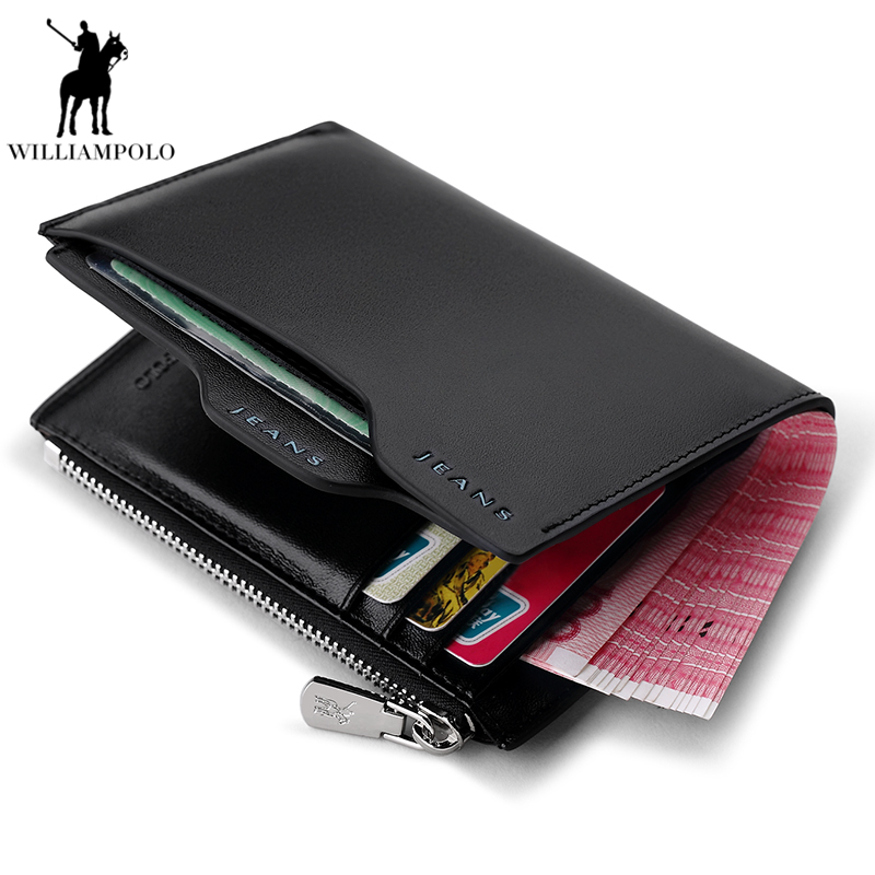 New Wallet Brand Short Men Wallets Genuine Leather Male Purse Card Holder Wallet Fashion Man Zipper Wallet Men Coin bag PL146