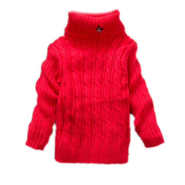 Boys Girls Cardigan Sweater 2017 Winter Autumn Solid Color Baby Boy Girl Sweater infant Turtleneck Knitted Pullover Outerwear