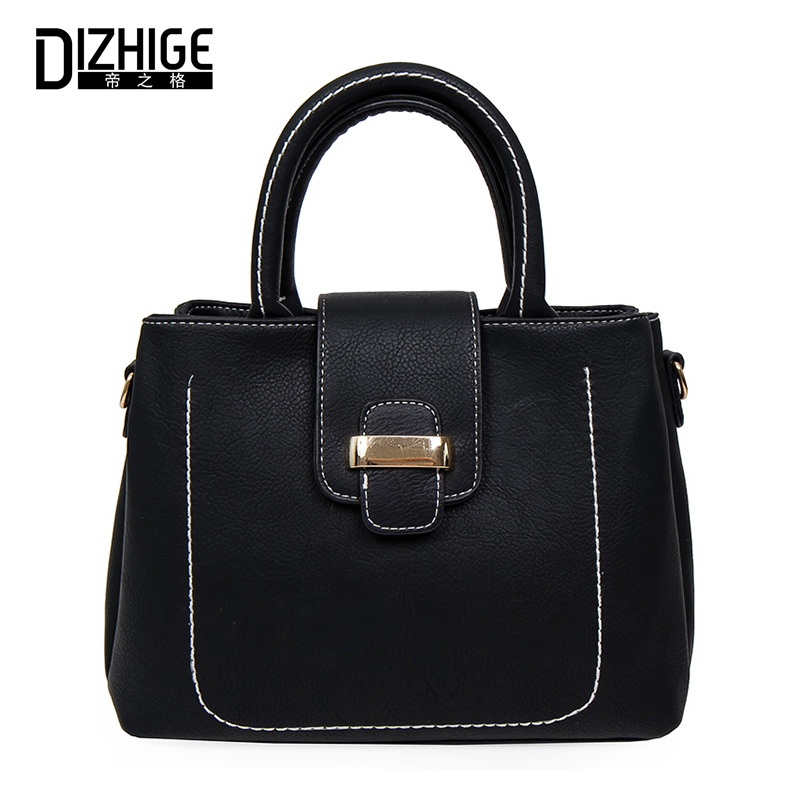 Women Shoulder Bag PU Leather Thread Solid Bags Ladies Handbag Female Crossbody Messenger Bag Casual Tote Famous Brand Designer female brand design women bag fashion rivet messenger bags solid pu leather clutch bag vintage crossbody bag punk women handbag