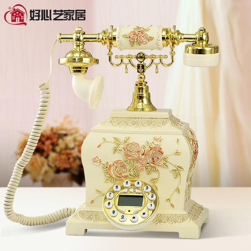 European telephone landline telephone office household telephone retro pastoral wire telephone corded phone ringing tones