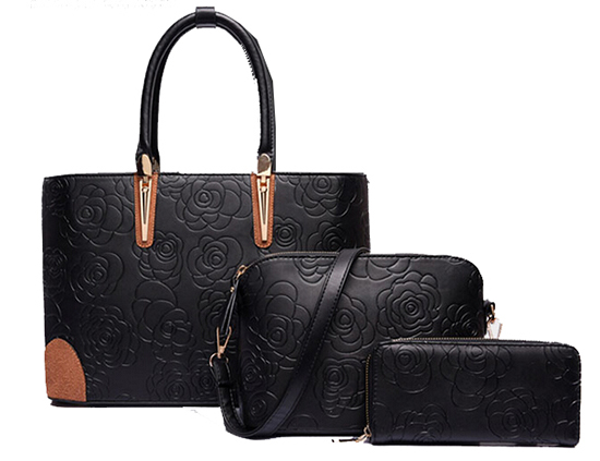 0818b35b6d Online shopping wholesale high quality set handbag 3 pcs in one ladies bag-in  Top-Handle Bags from Luggage   Bags on Aliexpress.com