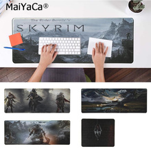 MaiYaCa New Designs the elder scrolls v skyrim Large Mouse pad PC Computer mat Rubber PC Computer Gaming mousepad