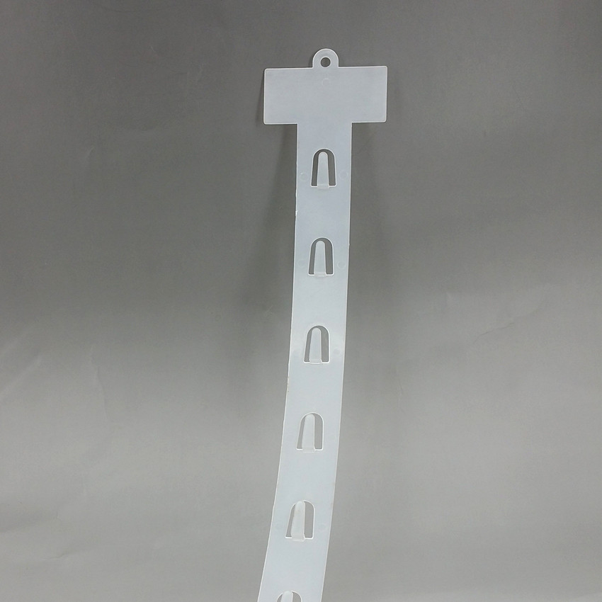 L735mm Plastic PP Retail Hanging Merchandise Clips Strips W3.5cm Products Display For Supermarket Store Promotion 60pcs