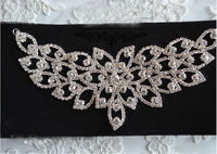 1pcs Sew On Butterfly Crystal Rhinestone Applique Bright Strass Shiny For Wedding Dress Belt Clothing Accessories