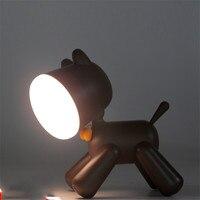 Creatieve cartoon mooie puppy lamp leuke nachtlampje SUB opladen baby begeleidende nachtlampje kamer decoratie LED tafellamp LED Nacht Verlichting    -