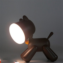 creative cartoon lovely puppy lamp cute night light SUB recharge baby accompanying night light room decoration LED table lamp