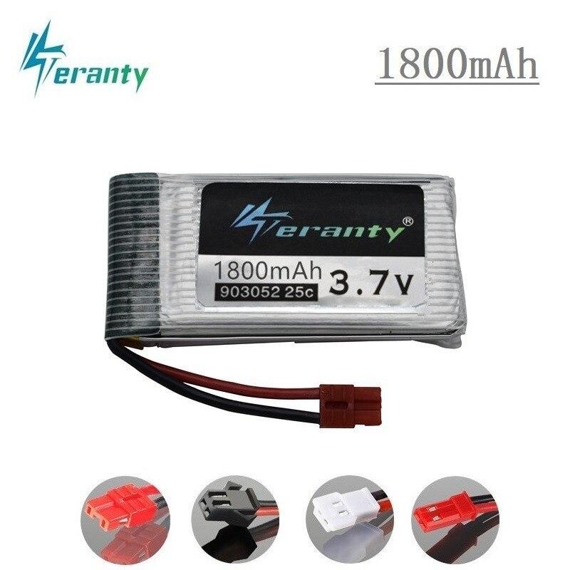 3.7v 1800mAh Lipo Battery For KY601S SYMA X5 X5S X5C X5SC X5SH X5SW X5HW X5UW M18 H5P HQ898 H11D H11C 3.7v Drone Battery 1pcs