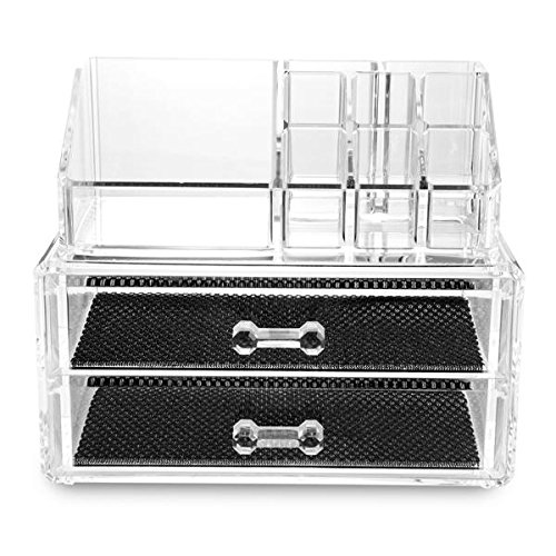 BEAU Clear Acrylic Lipstick Display Stand Holder Cosmetic Storage