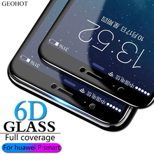 6D 9H tempered glass for Huawei P Smart glass Huawei Enjoy 7S Screen Protector Full Cover For  Huawey P Smart FIG-LX1 Glass flim