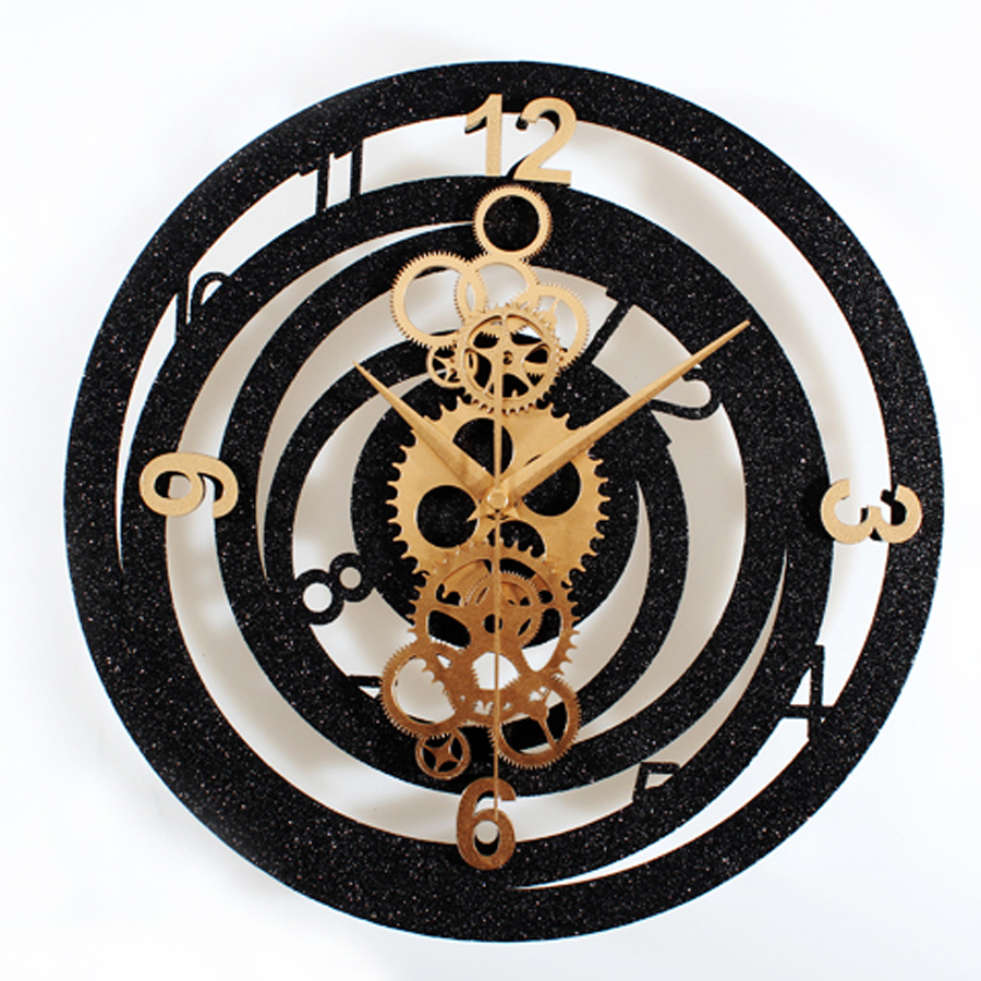 Creative Gear Wall Clock Modern Design Living Room Metal