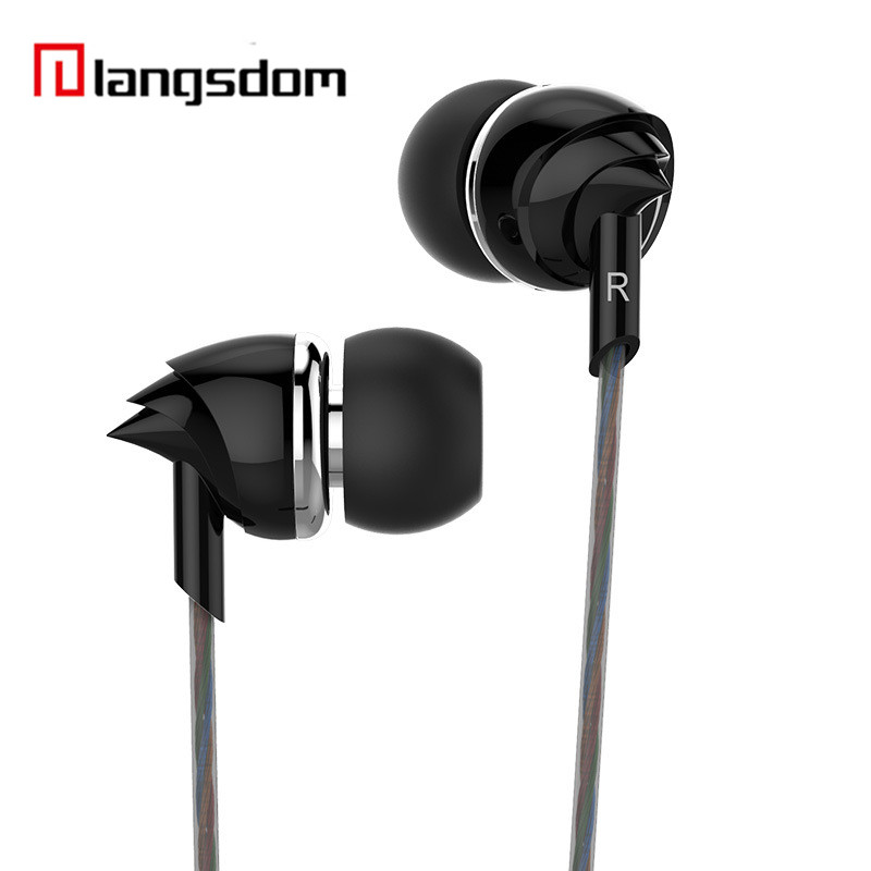Original Langsdom Stereo Earphone In-Ear Headset Bass Earbuds with Mic High Quality Sound Music for iPhone Xiaomi Mobile Phone 100% original high quality stereo bass headset in ear earphone handsfree headband 3 5mm earbuds for phone mp3 player