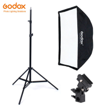 купить Godox 50*70cm Umbrella Softbox bracket Light Stand kit for Strobe Studio Flash Speedlight Photography дешево