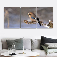 Laeacco Canvas Calligraphy Paintings 3 Panel Bird Animal Posters and Prints Abstract Nordic Wall Artwork Home Living Room Decor