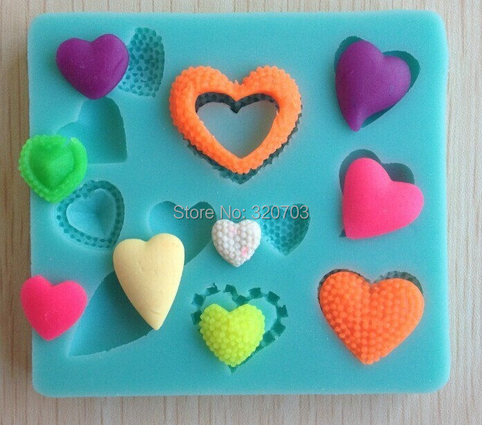 Free shipping 1Pcs lovely shaped Chocolate Candy Jello 3D silicone Mold Mould Cartoon Figre/cake tools soap mold