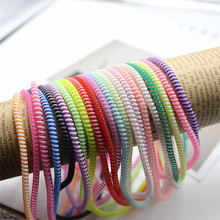 60cm Colors Data Cable Protective Sleeve Spring twine For Iphone Android USB Charging earphone Case Cover  random color