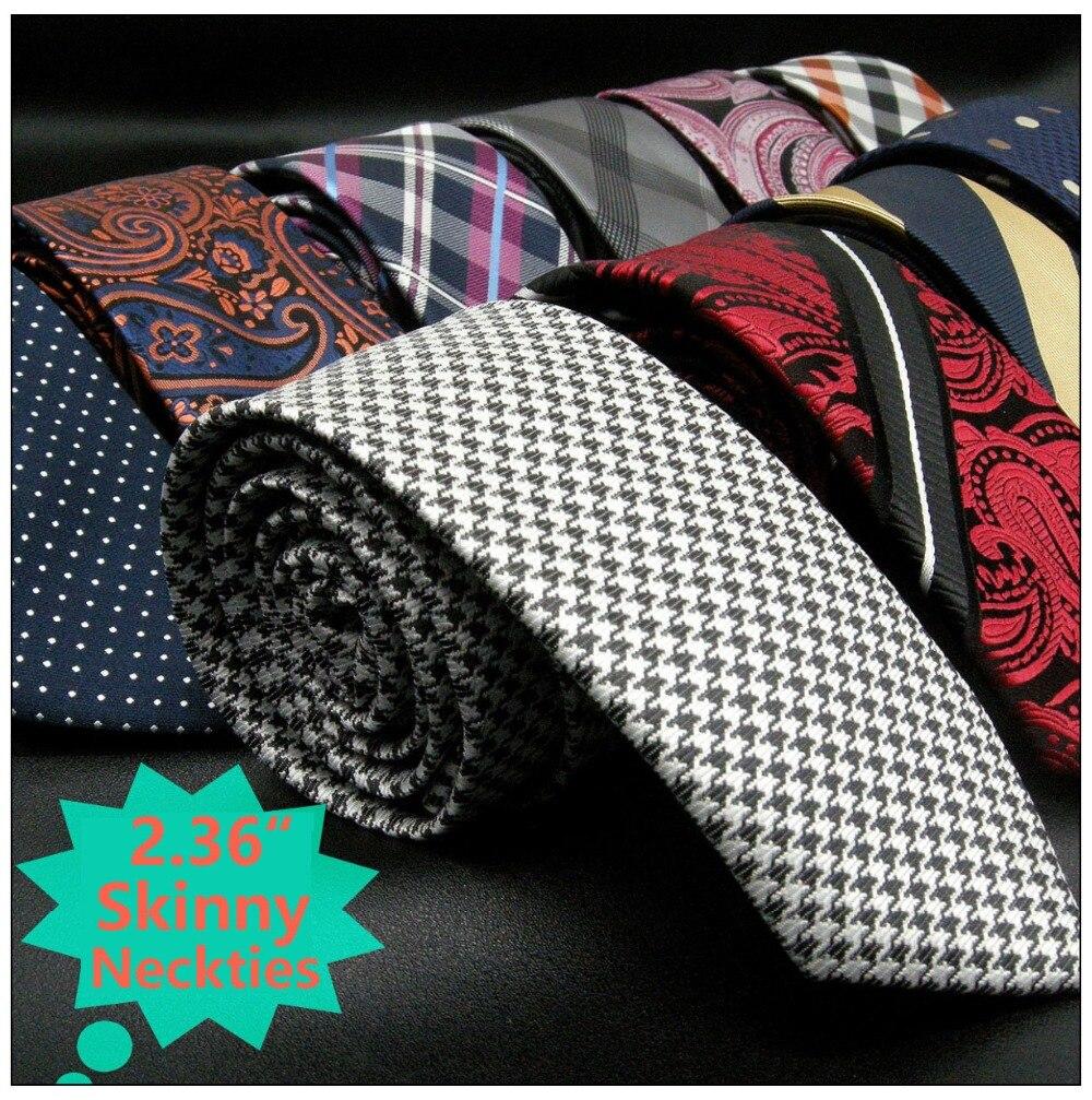 Maigre Cravate Floral Paisley Multicolore Soie Jacquard Tissé De Mariage De Mode Cravates pour hommes Classique Robe Mince Marié