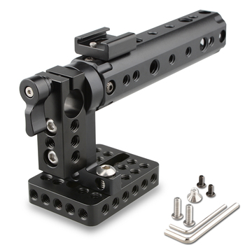 CAMVATE Camera Video Cage DSLR Top Handle Rig + 15mm Rod Clamp 1/4 Cold Shoe Mount For canon 7D A7 Foto Kit C1153