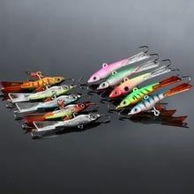FISH KING 5pcs/lot 15g/pcs 7.8cm Winter Fishing New Jigging Lure Wobbler Crank Jig Head With Hooks Ice Fishing Bait