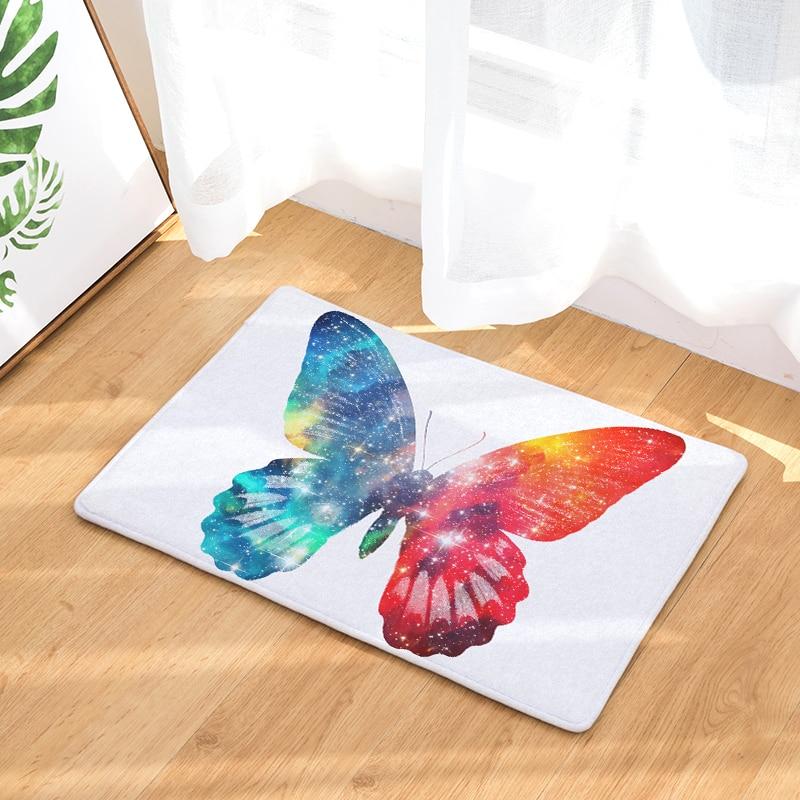 Nice Doormat Carpets Dream Painted Butterfly Print Mats Floor Kitchen Bathroom  Rugs 40X60or50x80cm