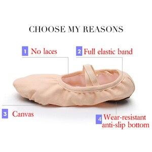 Image 3 - USHINE Новый профессиональный полный резинкой шнурки для коррекции и обучение тапочки для занятий йогой носки для балета, танцевальная обувь для детей, для девушек и женщин
