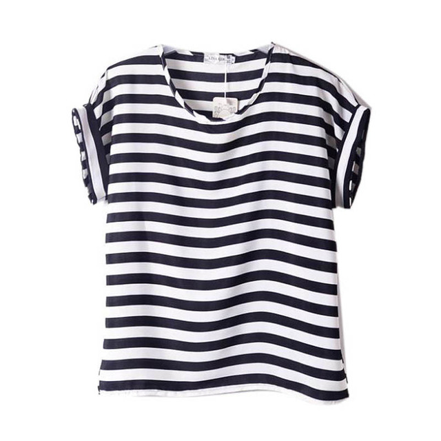 1ffb77694a27 New Women Chiffon T shirts Tops Summer Style Ladies Loose Short ...
