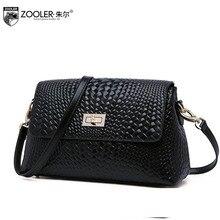 ZOOLER  New Superior cowhide leather bag brands fashion Lingge weaving Genuine Leather women shoulder messenger bag