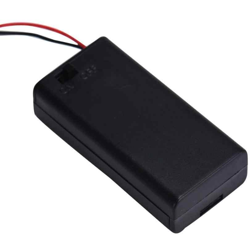 2 x AA 3 V Батарея соединитель держатель чехол для хранения коробка на переключатель включения/выключения с подводящего провода MOSUNX Futural Digital F35