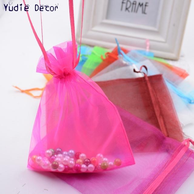 Gran oferta barato 10 unids/lote de moda de seda transparente cuadrado Organza bolsas de dulces cajas para boda Favor caja de regalo para fiesta de cumpleaños