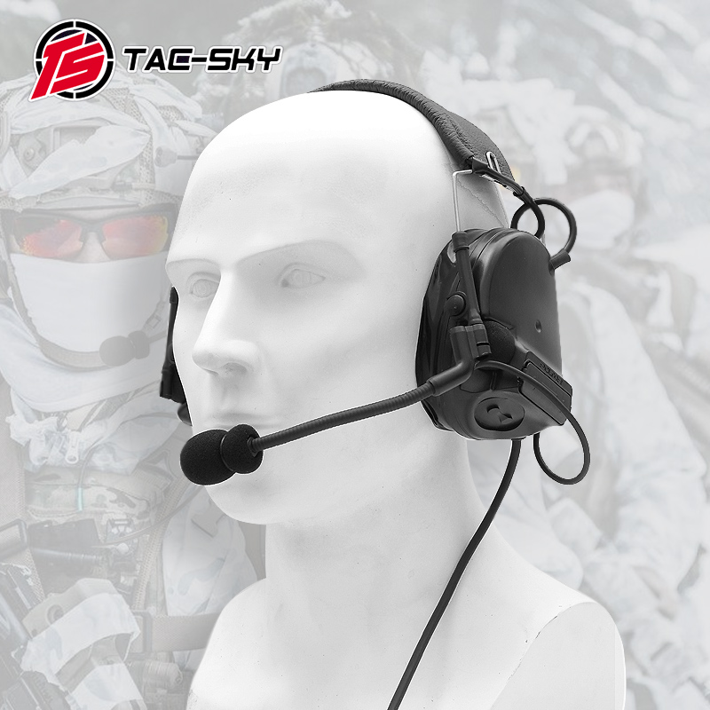 COMTAC III TAC-SKYcomtac Iii Silicone Earmuffs Noise Reduction Pickup Air Gun Military Shooting Earmuffs Tactical Headset C3BK