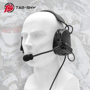 Image 2 - COMTAC III tac tex SKYcomtac iii silikon earmuffs gürültü azaltma pikap hava tabancası askeri çekim earmuffs taktik kulaklık C3BK