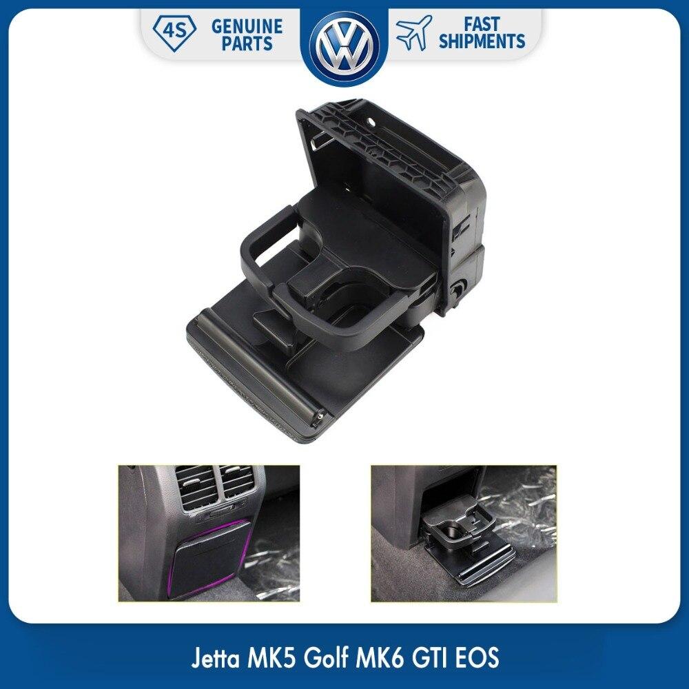 Novo apoio de braço traseiro preto central console titular copo bebidas suportes para vw volkswagen jetta mk5 golf mk6 gti eos 1k0 862 532 f 9b9