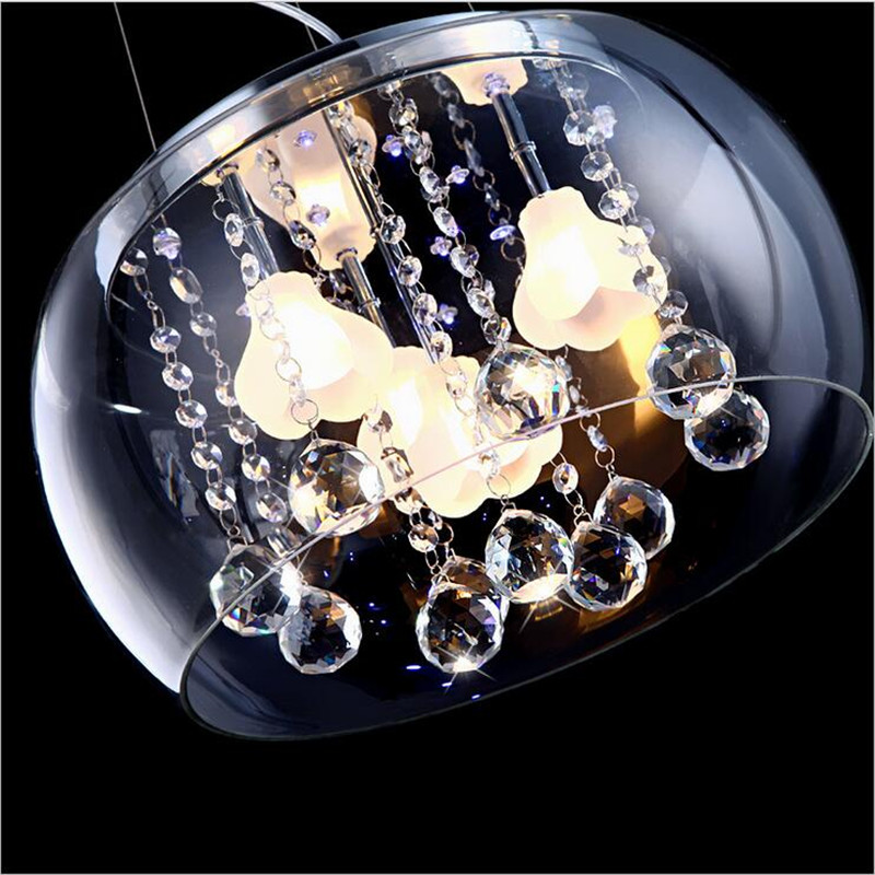 Modern Fashion Brief Crystal Glass Flowers Led G4*4 Pendant Light Adjustable For Dining Room Living Room Bedroom Dia 40cm 1288 2016 time limited suspension luminaire basons fashion living room pendant light modern bedroom lamp brief crystal dining lamps